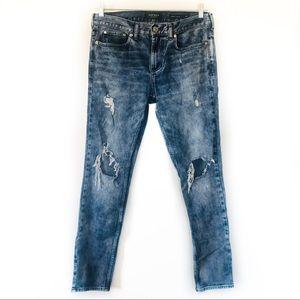 Pacsun Skinny Jeans Distressed Destroyed Denim